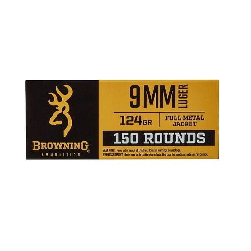 Browning FMJ 9mm 124 Grain