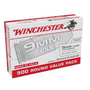 Winchester USA 9mm Luger 115 Grain