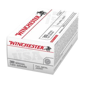 Winchester USA Full Metal Jacket .38 Special 130 Grain