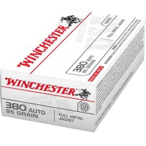 Winchester USA Full Metal Jacket .380 Automatic 95 Grain