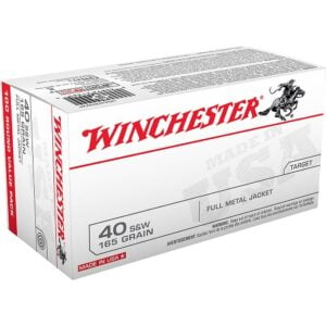 Winchester USA Full Metal Jacket Flat Nose .40 Smith Wesson 165 Grain