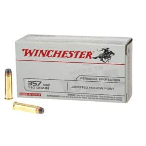 Winchester USA JHP .357 Magnum 110 Grain 1