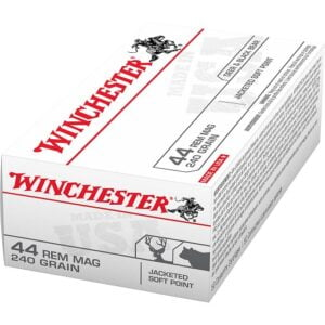 Winchester USA Jacketed Soft Point .44 Remington Magnum 240 Grain